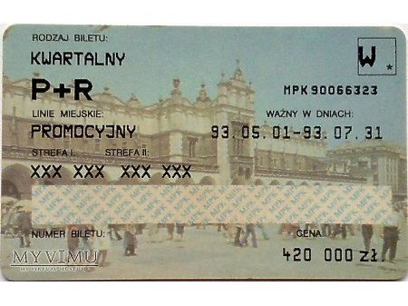 Bilet MPK Kraków 1
