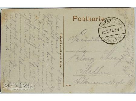 Pocztówka- Falkenburg Partie am Schwanenteich