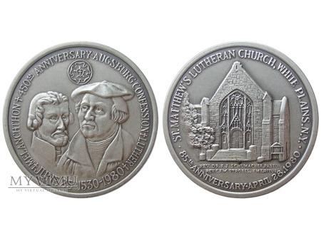 450-lecie wyznania augsburskiego medal 1980