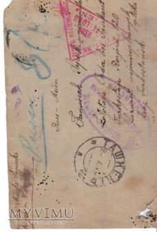 kartka z obozu jenieckiego (z I wojny światowej)