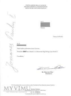 List od ks.Sławomira Odera