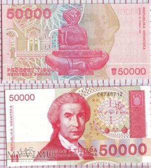 50000 dinarów- Chorwacja