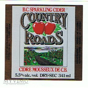 b.c. sparkling cider country roads