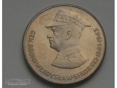 Władysław Sikorski, 50 zł, 1981 rok.