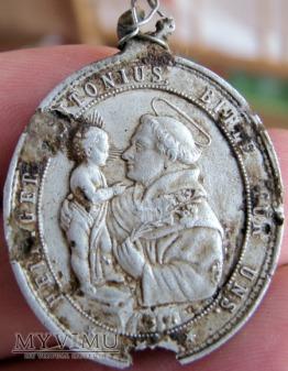 medalik - św.Franciszekz Asyżu i św.Antoni z Padwy