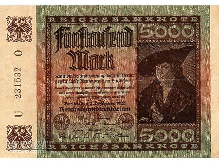5000 Marek 1922 r.