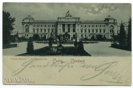 1899 LWÓW Lemberg Gmach Sejmowy księżyc