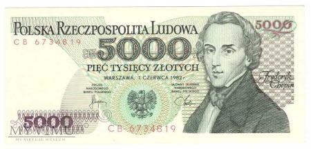 5000zł 1982r.