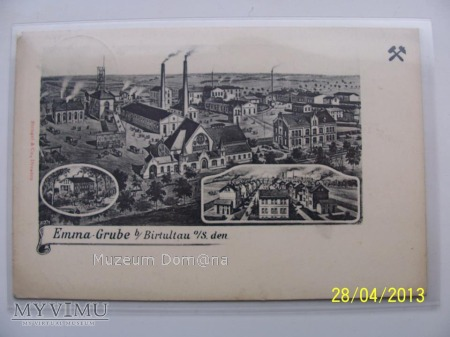 KARTKA POCZTOWA - KWK MARCEL - EMMAGRUBE - 1908rok