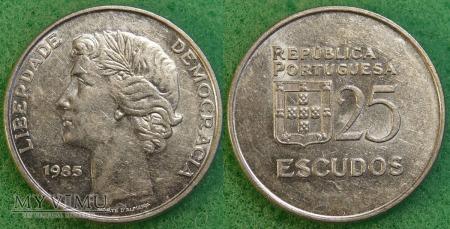 Portugalia, 25 ESCUDOS 1985