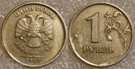 Rosja, 1 РУБЛЬ 2007