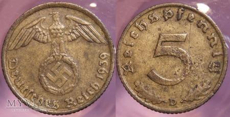 Niemcy, 1939, 5 Reichspfennig