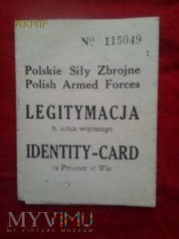 Duże zdjęcie Legitymacja b. jeńca wojennego
