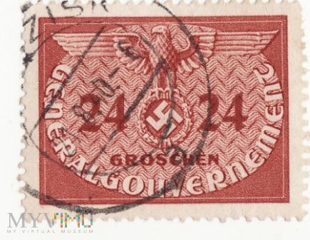 Znaczek urzedowy GeneralGouvernement 1940