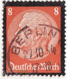 Paul von Hindenburg 8 Pf Deutsches Reich