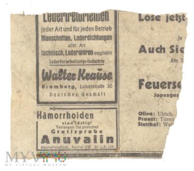 Duże zdjęcie 24 Nieznana niemiecka gazeta