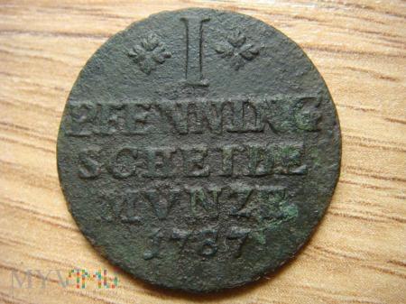 1 Pfennig 1787 Karol Wilhelm (książę Brunszwiku)