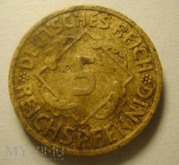 5 Reichspfennig 1935 E, III Rzesza
