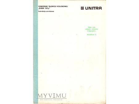 Instrukcja serwisowa telewizora RUBIN 707p