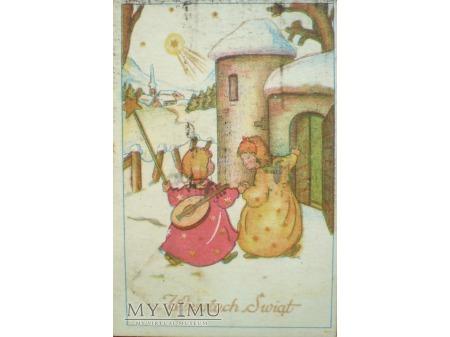 1956 Wesołych Świąt Aniołki na Święta