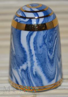 Agateware/biały/niebieski