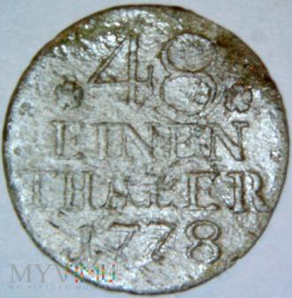 Fryderyk II Wielki 1740-1786-48 część talara 1778