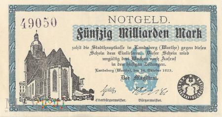 Fünfzig Milliarden Mark - Landsberg a.d.Warthe