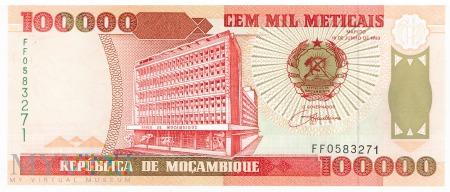 Mozambik - 100 000 meticali (1993)