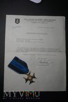 Zaświadczenie o nadaniu Virtuti Militari