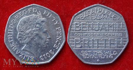 Wielka Brytania, 50 pence 2013
