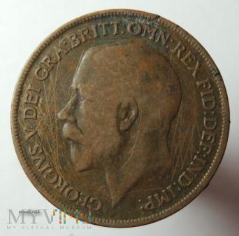 Moneta 1 Pens 1921 Jerzy V One Penny
