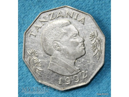 5 Shilingi Tanzania 1992