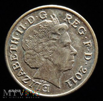 1 Pens 2011 Elizabeth II One Penny