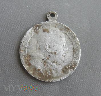 Aluminiowy medalik z papieżem