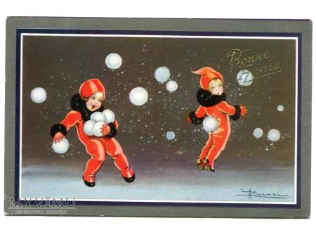 Nowy Rok ART DECO Adolfo Busi Skrzaty Świąteczne