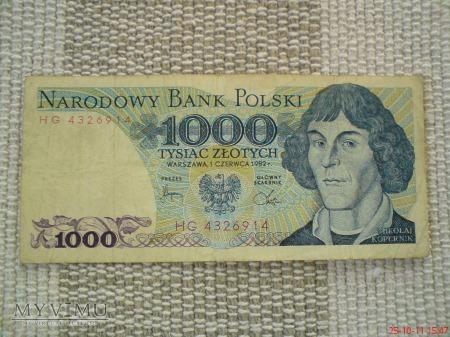1000 złotych 1982 r.
