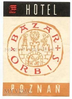Duże zdjęcie Nalepka hotelowa - Poznań - Hotel Bazar