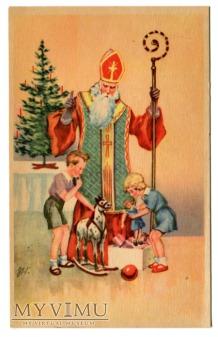 Święty Mikołaj z PRL-u Wesołych Świąt Święta