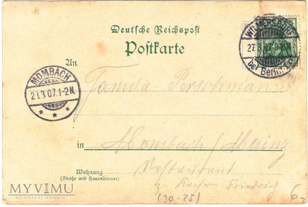 Ułan 1831 - niemiecka karta pocztowa,początek XXw.