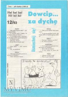 Dowcip...za dychę 12/93
