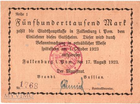 Falkenburg 500 000 mk 17.8.1923 r.