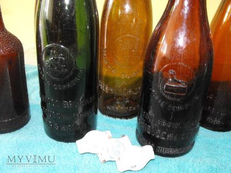 Zestaw butelek browaru Haberbusch i Schiele