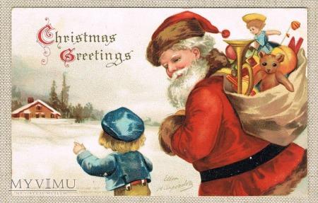 c. 1905 Bożonarodzeniowa pocztówka