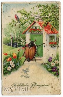Zielone Świątki Pfingsten Postkarte Pocztówka