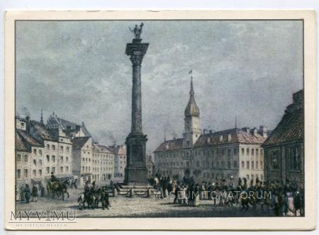 W-wa - Zamek ok. 1840 roku - od placu