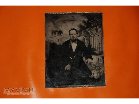 """Duże zdjęcie Ambrotyp - """"Brodacz"""" - lata 1852 - 1872"""