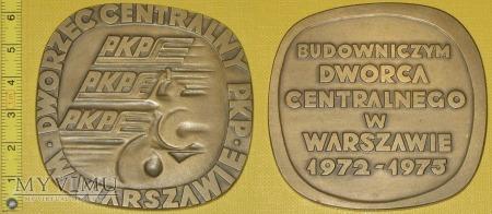 Duże zdjęcie Medal kolejowy Dworca Centralnego w Warszawie
