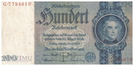 Niemcy - 100 reichsmarek (1935)