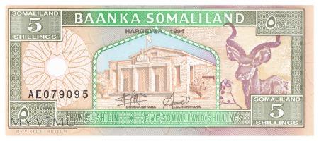 Somalia (Somaliland) - 5 szylingów (1994)