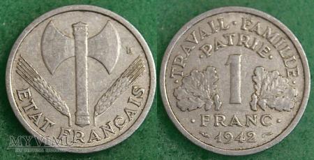 Francja, 1 FRANC 1942r